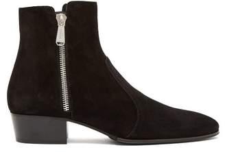 Balmain Anthos Suede Ankle Boots - Mens - Black