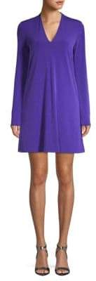 Kenneth Cole New York Long-Sleeve V-Neck Dress