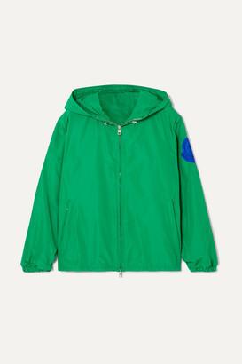 Moncler Hooded Appliqued Shell Jacket - Green
