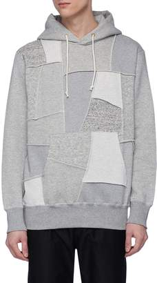 Comme des Garcons Homme Patchwork front hoodie