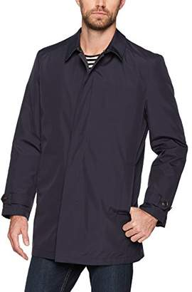 Hart Schaffner Marx Men's Rain-Down Coat with Zip-Out Down Liner