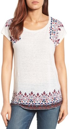Women's Lucky Brand Embroidered Tee $49.50 thestylecure.com