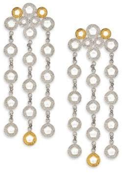 Coomi Silver Opera Diamond, Crystal, 20K Yellow Gold& Sterling Silver Chandelier Earrings