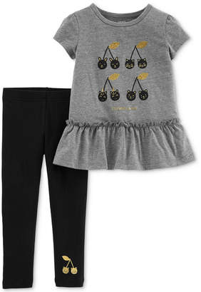 Carter's Carter Toddler Girls 2-Pc. Peplum Tunic & Leggings Set