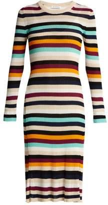 Altuzarra Stills Striped Knit Dress - Womens - Multi
