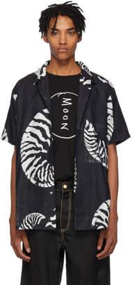 Double Rainbouu Black and White Beach House Hawaiian Shirt