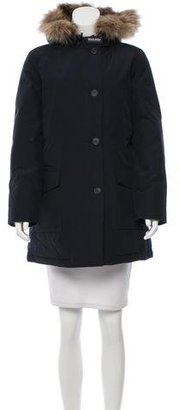Woolrich Fur-Accented Short Coat w/ Tags $395 thestylecure.com