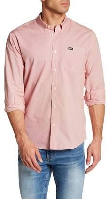 RVCA That'll Do Micro Long Sleeve Slim Fit Plaid Shirt