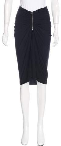 Michael Kors Ruched Knee-Length Skirt