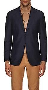 Eidos Men's Mohair-Wool Two-Button Sportcoat-Blue