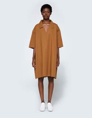 Ashley Rowe Collar Dress in Tan