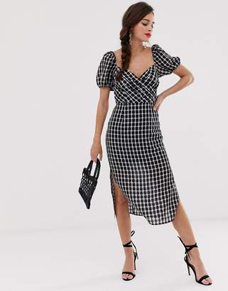 Finders Keepers Picnic check midi dress