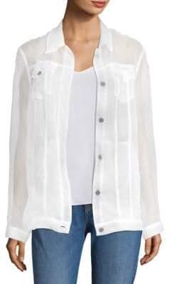 J Brand Cyra Organza Sheer Silk Jacket