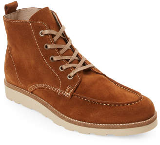 Jared Lang Tan Robbie Suede Lace-Up Boots