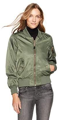Steve Madden Women's Satin Bomber Jacket