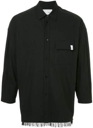 Yoshio Kubo Yoshiokubo fringed hem shirt