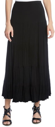 Karen Kane Crushed Tiered Maxi Skirt