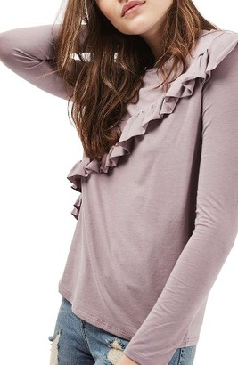 Petite Women's Topshop Ruffle Tee $32 thestylecure.com