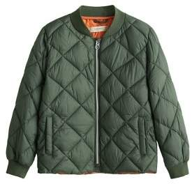 MANGO Quilted waterproof bomber jacket