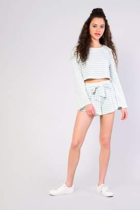 Glamorous Womens **Striped Plush Shorts By Multi
