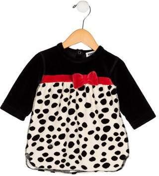 Rykiel Enfant Girls' Velvet Bow-Accented Dress