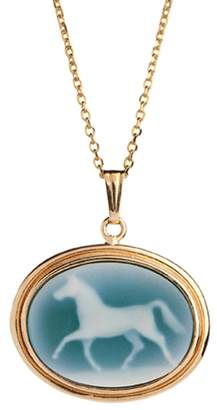 Laura Lee Jewellery Agate Horse Cameo Necklace