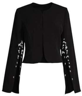 Alberto Makali Pearl Split-Sleeve Crepe Jacket