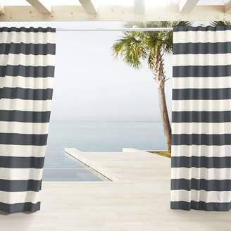 west elm Outdoor Stripe Curtains - Cavern