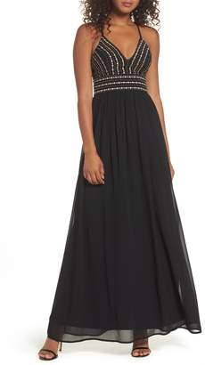 LuLu*s Glamorous Gala Embellished Maxi Dress