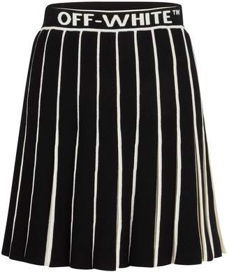 Off-White Off White Swans pleated skirt