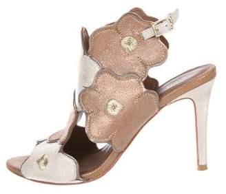 Donald J Pliner Metallic Leather-Accented Sandals