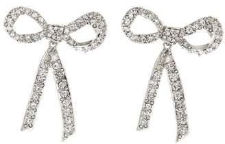 Oscar de la Renta Pave Bow Earrings