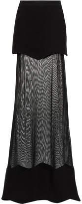 Andrea Bogosian sheer panel long skirt