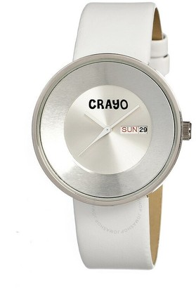 Crayo Button Silver-tone Stainless Steel Case Unisex Watch