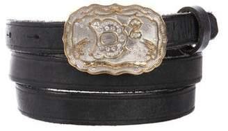 DSQUARED2 Embellished Skinny Leather Belt