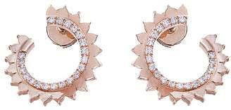 Vendome Aoyama Nouvel Heritage Hoop Earrings - Rose Gold