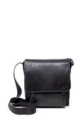 Armani Exchange A|X Men's Exotic Leather Crossbody Bag