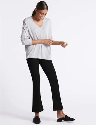 Marks and Spencer Sculpt & Lift Mid Rise Slim Boot Cut Jeans
