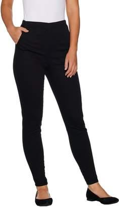 Denim & Co. Petite Color Pull-on Stretch Denim Leggings