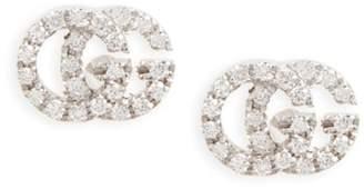 Gucci Double-G Diamond Stud Earrings
