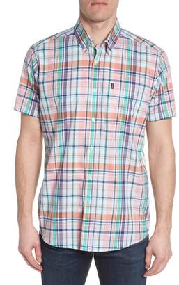 Barbour Triston Regular Fit Plaid Short Sleeve Sport Shirt