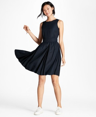 Brooks Brothers Pleated A-Line Dress