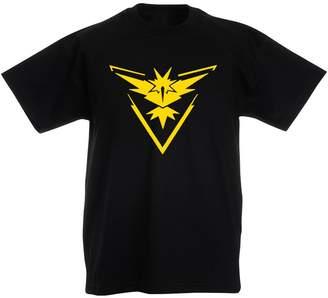 Pokemon Brand88 Team Instinct Go Badge, Kids Printed T-Shirt