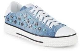 Valentino Embellished Flatform Sneakers