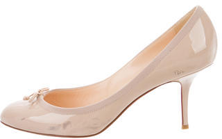 Christian Louboutin Christian Louboutin Patent Bow-Accented Pumps