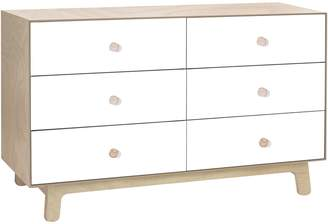 Oeuf Change Tables & Chests Merlin 6 Drawer Dresser with Sparrow Base, Birch