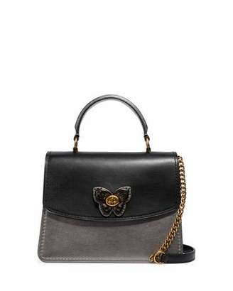 Parker Coach 1941 Butterfly Metallic Top Handle Bag