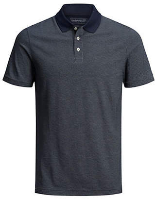 Jack and Jones Larry Printed Cotton Polo