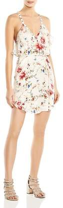 Haute Hippie Narrow Escape Ruffled Floral-Print Silk Mini Dress