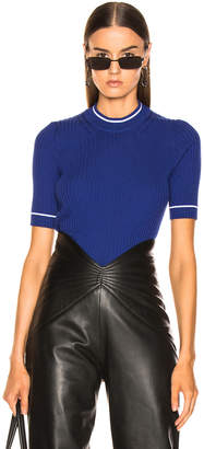 Maison Margiela Ribbed Top in Ultramarine | FWRD
